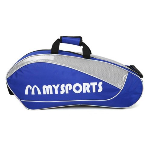 Adjustable Shoulder Strap Badminton Racket Cover Badminton Racket Bag Tennis Bag (6 Racquet) , Blue