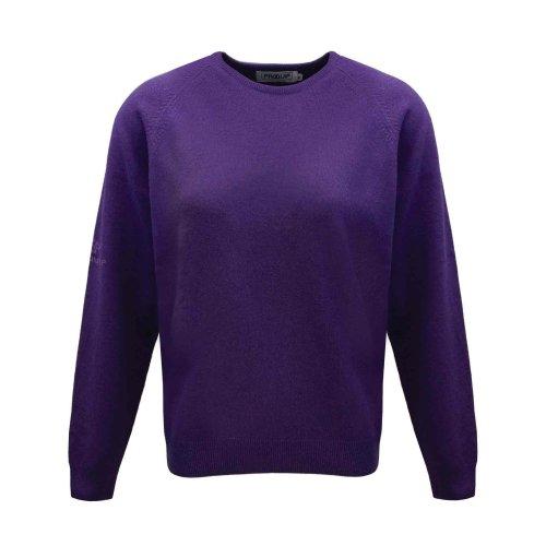 ProQuip Golf Julia Ladies Lambswool Sweater Crew Neck Jumper Purple XX-Large