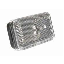 Clear 12v Front Marker & Reflector Trailer Lamp - Caravan Gmak Dp -  front marker lamp clear caravan trailer gmak 12v reflector dp