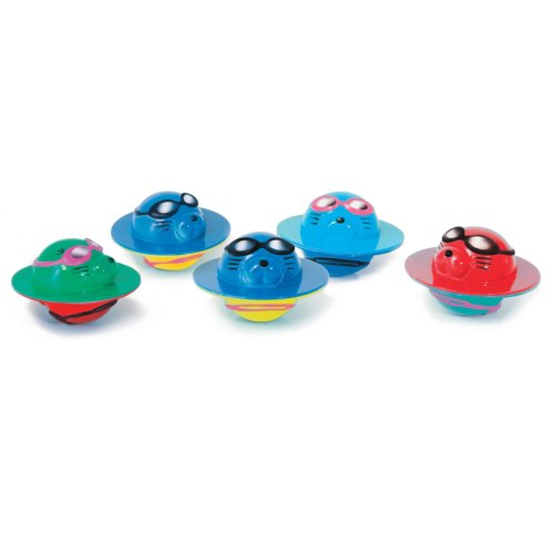 Zoggs Children's Seal Flips Fun Pool Game, Water/Bath Toy - Set of 5, 3 Months+