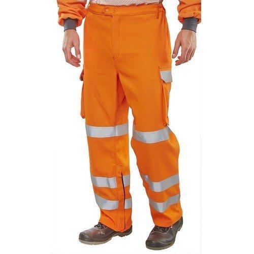 "Click CARC52OR30T ARC Compliant GO/RT Flame Retardant Hi Vis Orange Trousers 30"" Tall"
