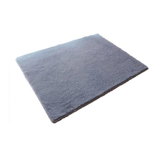 Elegent Machine Washable Non-slip Doormats,Bedroom Carpet, Gray, 50*80CM