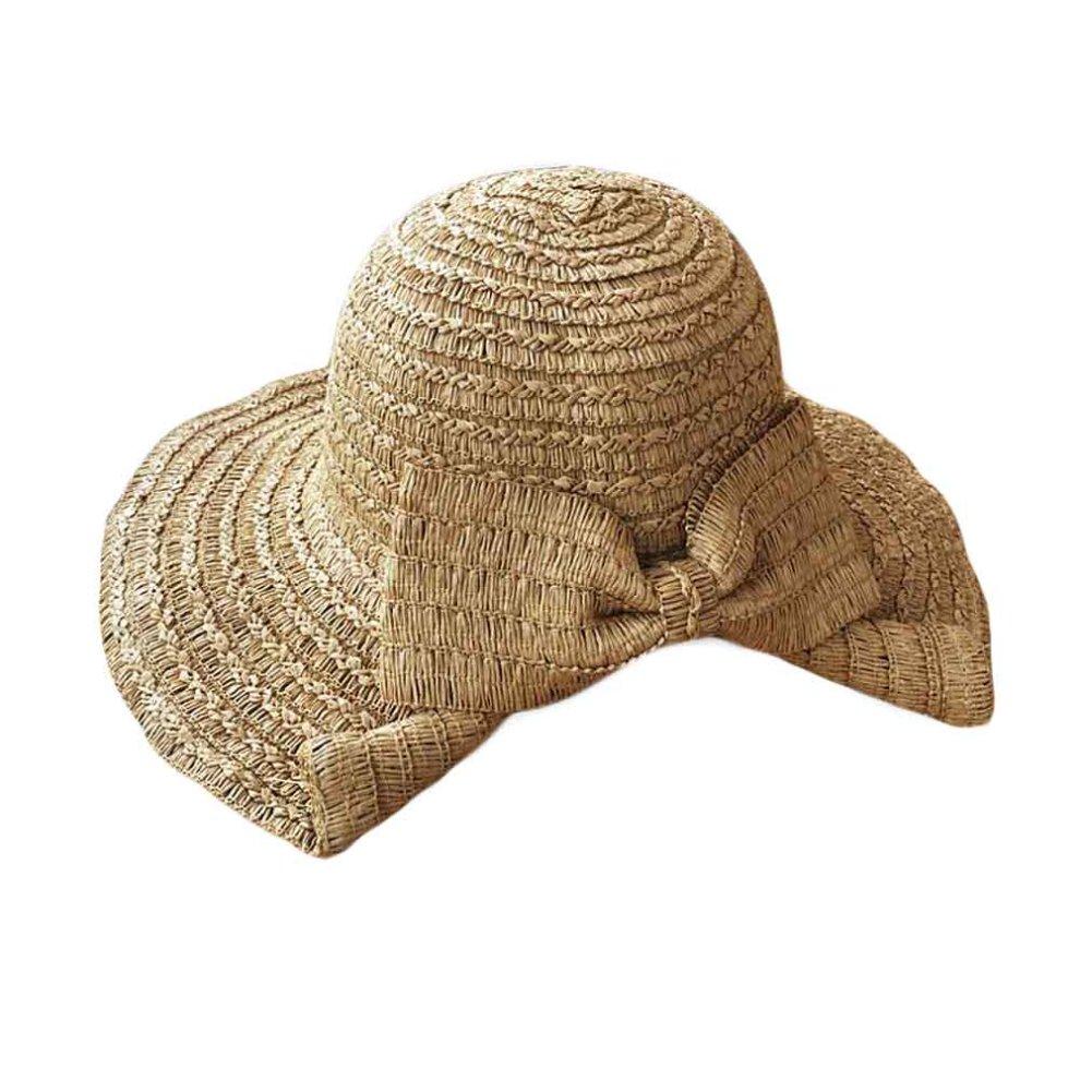 f9ab89d6597cf Women s Fashion Foldable Bucket Hat Beach Hat Wide Brim Hat Sun Hat Straw  Hats ...