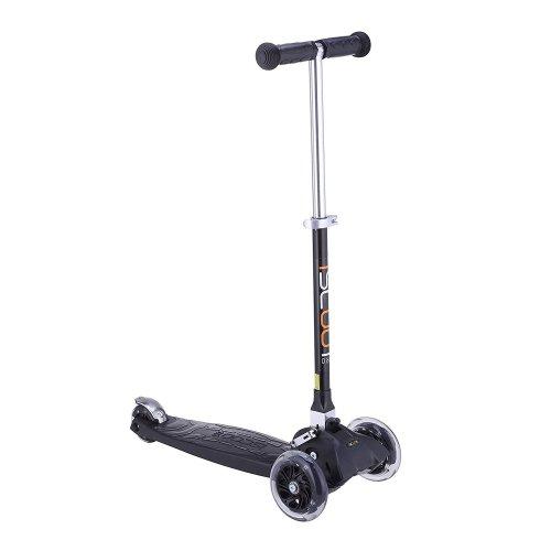Kids' iScoot Black Pro Mini T-Bar Kick Scooter | 3 Wheel Light-Up Scooter