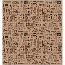 4 Pack Of Number Print Tissue Paper -  tissue paper 20x30 4pkgnumero set
