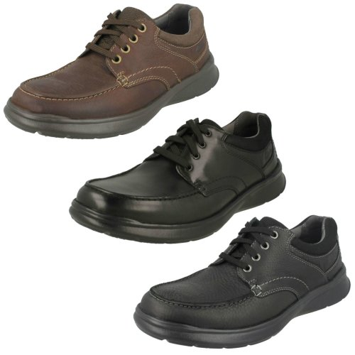 Mens Clarks Casual Shoes Cotrell Edge - G Fit