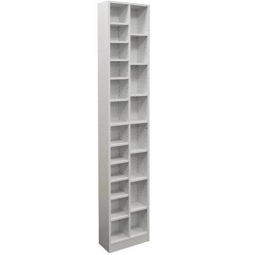 BLOCK - Tall Sleek 360 CD / 160 DVD Media Storage Tower Shelves - White