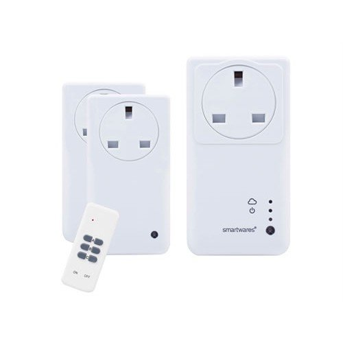 Byron BYRSH5SETGW SmartHome Remote Control WIFI Socket Set With App 3 Piece