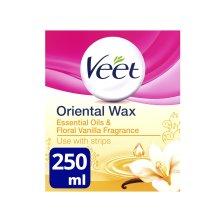Veet Essential Oils and Floral Vanilla oriental Warm Wax Microwavable Jar 250 ml