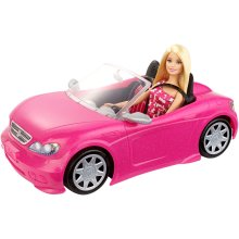 Mattel DJR55 Barbie Doll and Glam Convertible