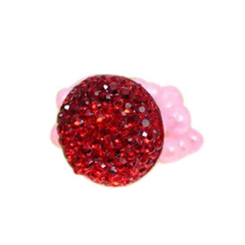 4 Pieces of Round Diamond Children-Pretend-Play Jewelry Rings