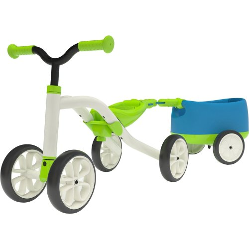 "Chillafish QUADIE + TRAILIE: 4-Wheeled ""Grow-With-Me"" Ride-On Quad and Trailer Combo, Lime"
