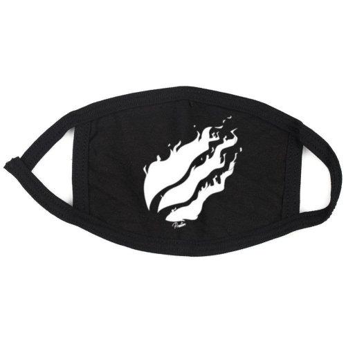 prestonplayz White,Black Flame Face,Mouth Mask