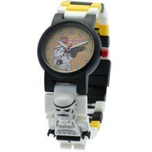 Lego Star Wars Storm Trooper Minifigure Children's Quartz Watch with Yellow Dial
