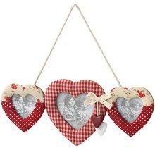 Hanging 3 Way Heart Photo Frame