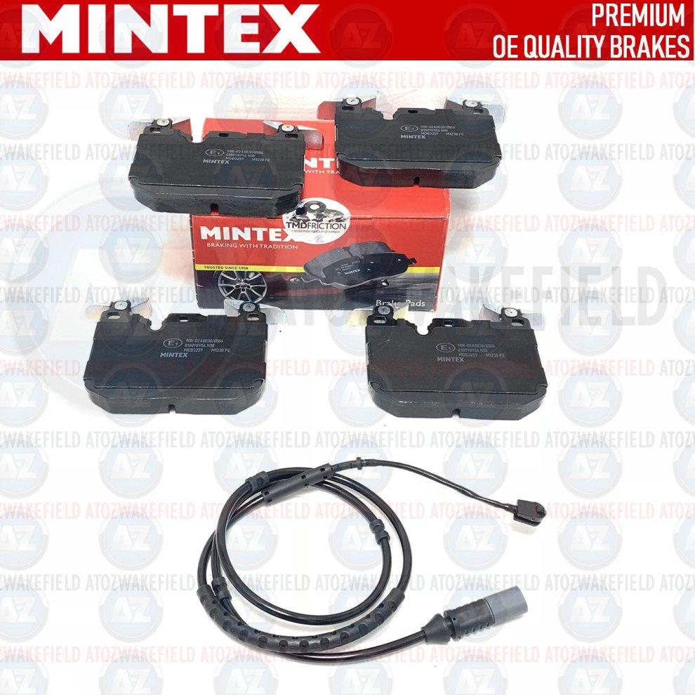 FOR BMW M5 F10 M6 F06 F12 F13 FRONT BRAKE PADS SET /& WIRE SENSOR MINTEX
