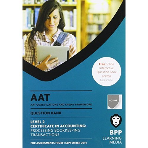 AAT Processing Bookkeeping Transactions: Question Bank