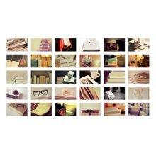 30PCS 1 Set Creative Postcards Artistic Beautiful Postcards, Book World