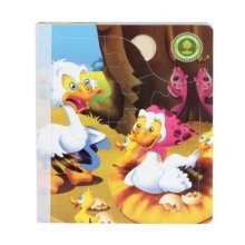 Popular Children Wooden Three-dimensional Ugly Duck's Scenes Jigsaw Puzzle