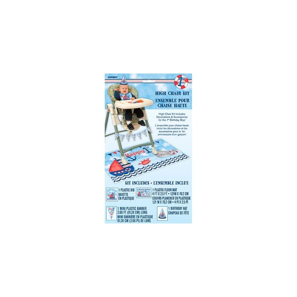 Unique Party Nautical 1st Birthday High Chair Kit On OnBuy