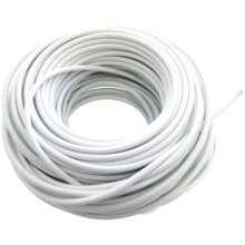 30m Curtain Wire - Window White Cord Cable Net Free Hooks Eyes Home New Office -  wire curtain window white cord cable net free hooks eyes home new