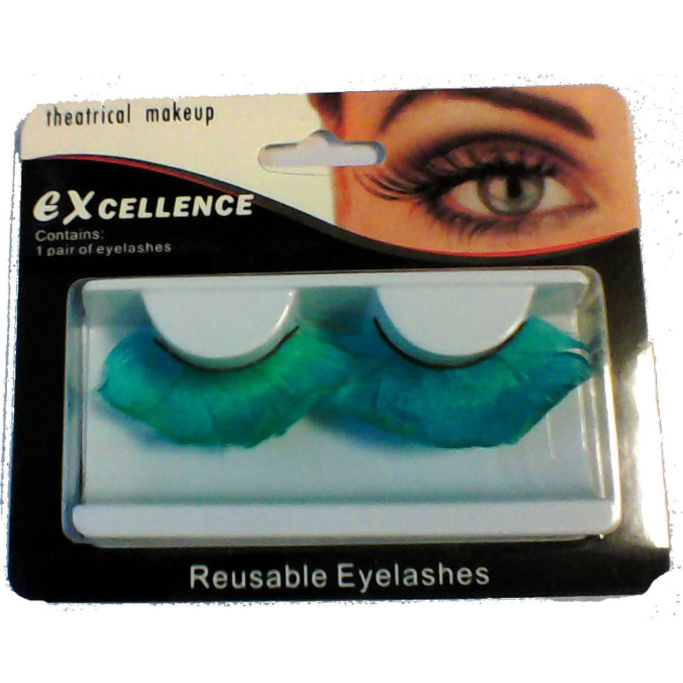 063df40db95 ... Eyelashes Feather Jumbo Reusable Fake False Eye Lashes Drag Queen - Blue  - 2. >