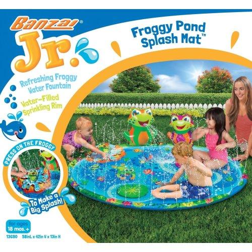 Banzai Jr Froggy Pond Splash Mat Summer Garden Water Game