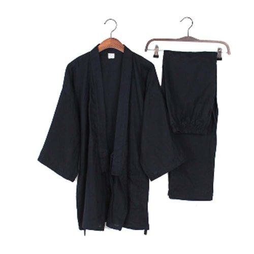 Kimono Loose Breathable Cotton Double Gauze Pajamas Suit Tracksuit Men's