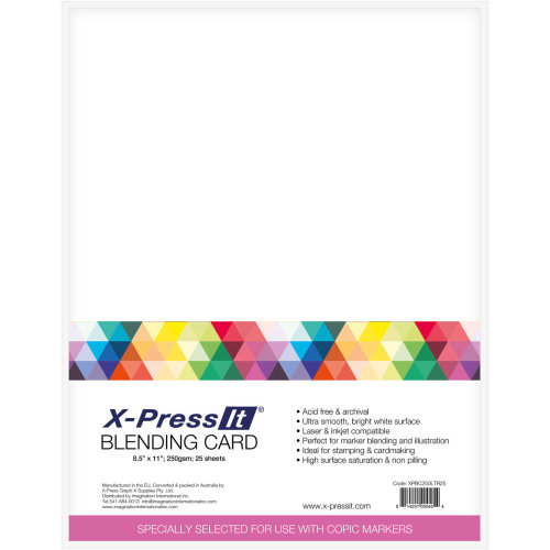 "X-Press Blending Card 8.5""X11"" 25/Pkg-White"