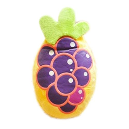 Lovely Fruits Series Design Mini Hot Water Bottle With Cover- Grapes (13x8.5cm)