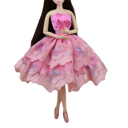 Accessory Toy Clothes Pink Doll Dress Doll Clothes Ballet Dress for Dolls