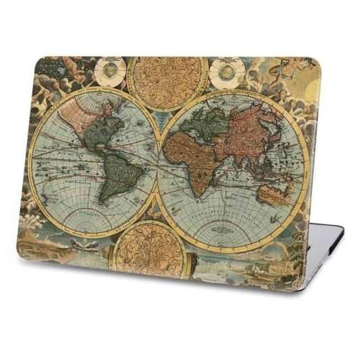 Macbook Case - Vintage Map-pro15-touch-bar-