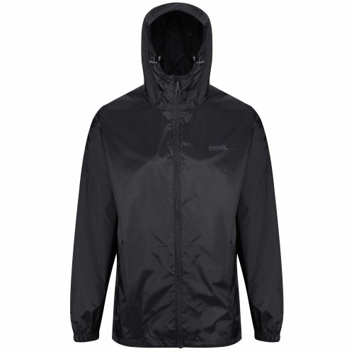 Regatta Men's Pack It III Waterproof Shell Jacket, Black, X-Large