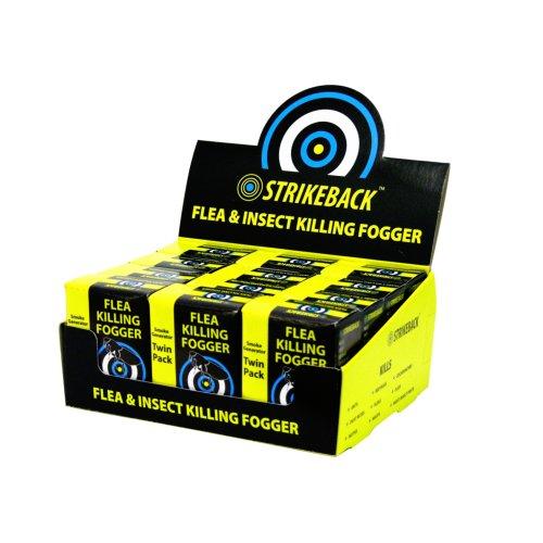 Strikeback Flea Kill Foggers 2pk (Pack of 12)