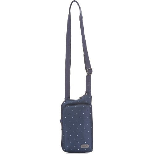 Pacsafe Daysafe Anti-theft Tech Crossbody Bag (Navy Polka Dot)