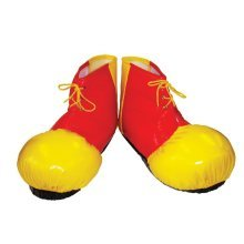 Red & Yellow Adults Clown Shoe Covers
