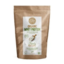 Organic Whey Protein - Natural - 80% Protein, Certified Organic - 500g