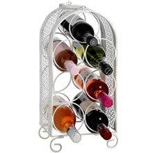 Shabby Chic Seven Bottle Wine Rack -  bottle wine rack shabby chic seven ideal storing your favoirte drinks ornamental metal floor standing holder