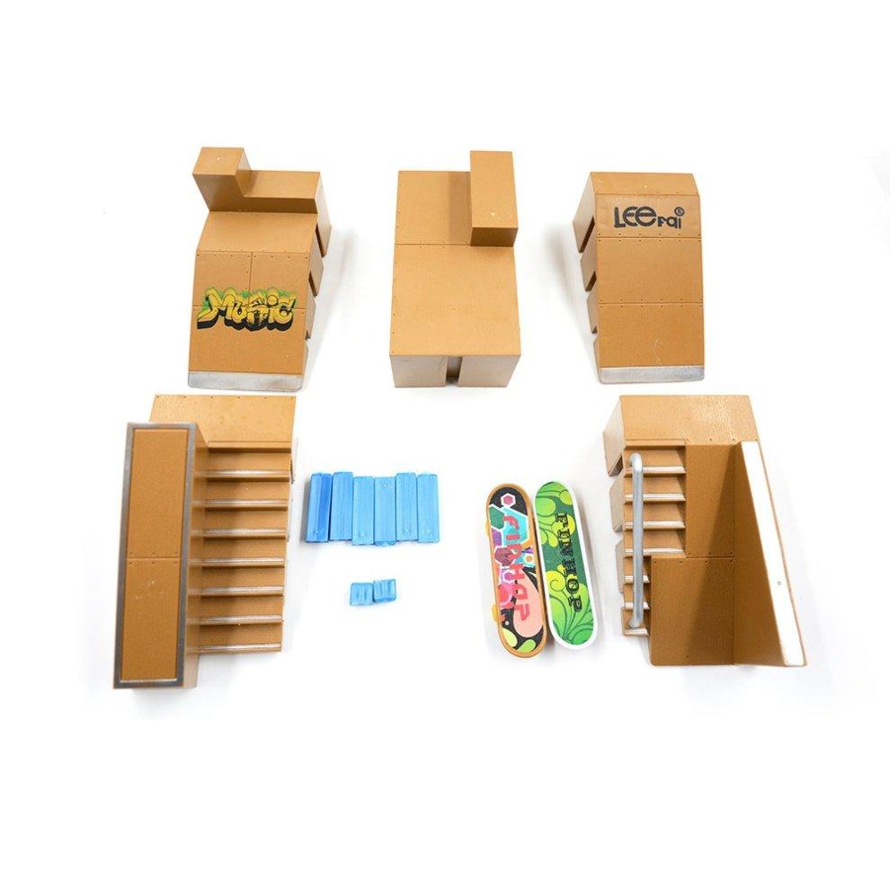 b66b9fbecd57 ... Togather® Mini Finger Skateboard Ramp Park Kit Finger Board Site Skate  Deck Ultimate Sports Parts ...