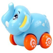 Set of 2 Lovely Elephant Car Wind-up Toy for Baby/Kids(Multicolor)