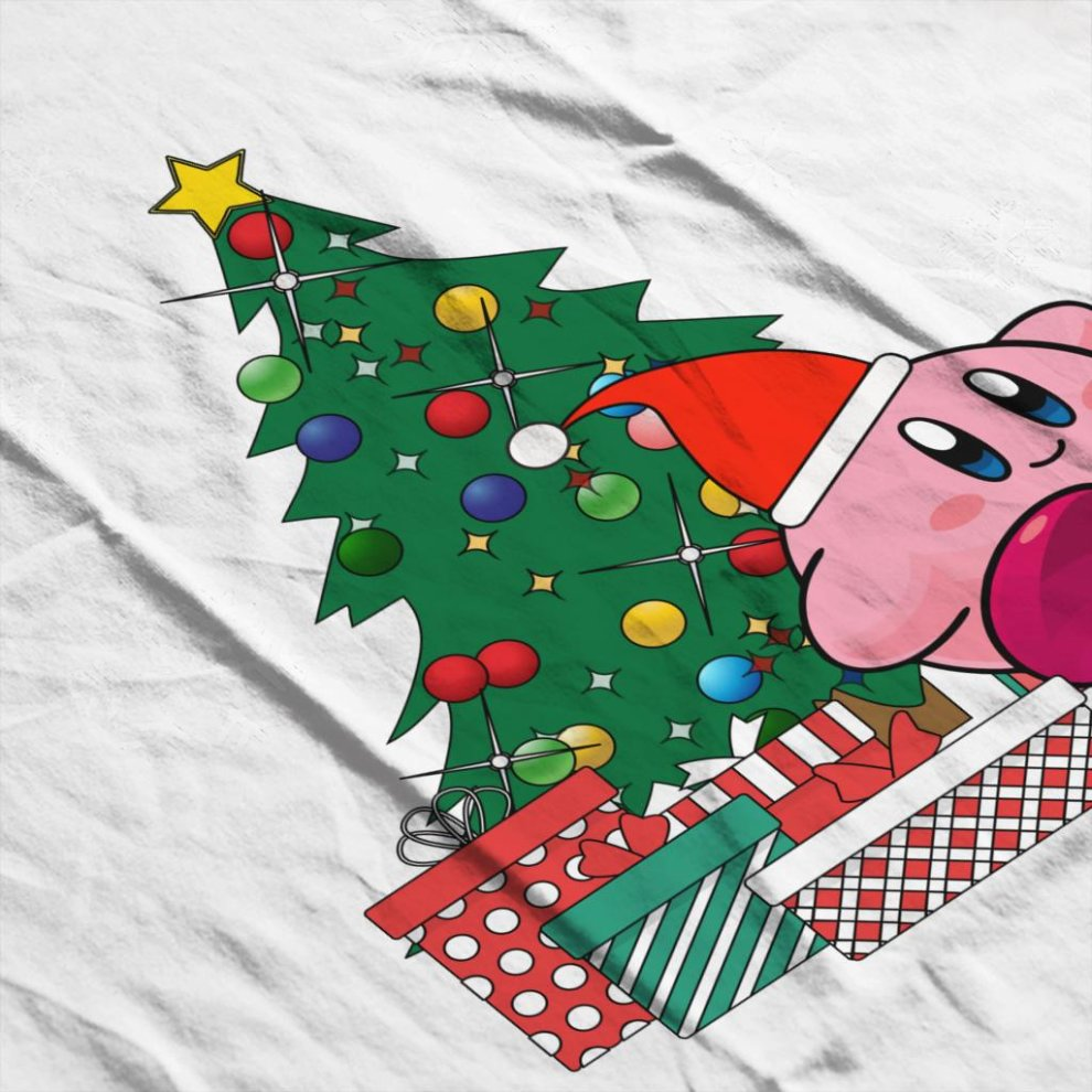 7af66963c ... Kirby Around The Christmas Tree Men's T-Shirt - 4. >