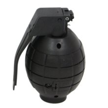 Black Plastic Toy Hand Grenade with Light & Sound