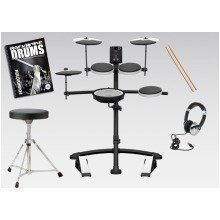 Roland TD-1KV Electronic Drum Kit V-Drums Pack Includes Stool, Stick, Headphones And Free Backbone Drum Book And CD Worth £15.99