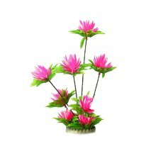 Emulational Plants Aquarium Decor Fish Tank Decoration,Red Flower