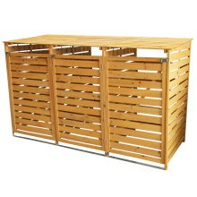 Triple Wheelie Bin Store | Wooden Garden Bin Shed