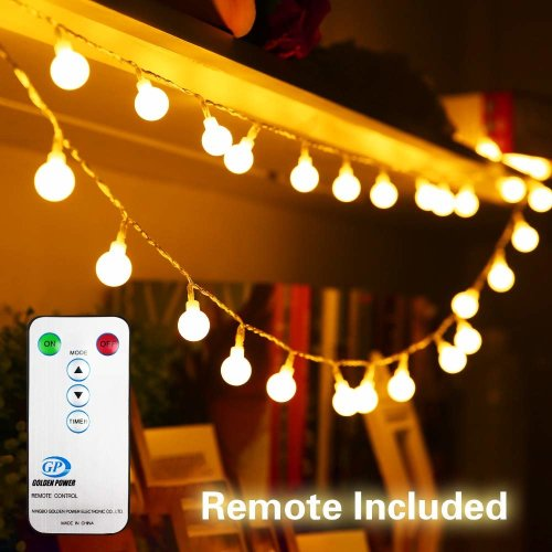 33ft 10m 100 Led Fairy Lights Plug In Low Voltage Waterproof Garden Light Indoor Outdoor String With Remote 8 Modes Controller