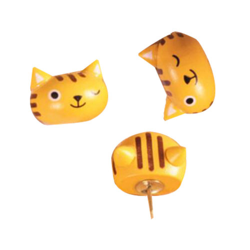 10 PCS Cats Pushpins Thumbtack Painting Drawing Tool Office Supply  Accessory