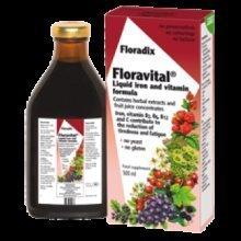 Floradix - Yeast Free Floravital Liquid Iron and Vitamin Formula  500ml