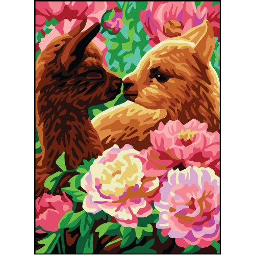 Collection D'art Needlepoint Printed Tapestry Canvas 22X30cm-Llamas