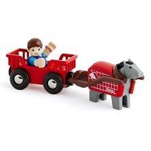 BRIO Countryside Horse & Wagon